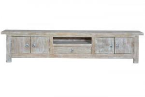 Comoda TV maro/alba din lemn de mango 230 cm Udisse Giner y Colomer