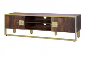 Comoda TV maro din lemn de mango si metal 150 cm Opal Giner y Colomer