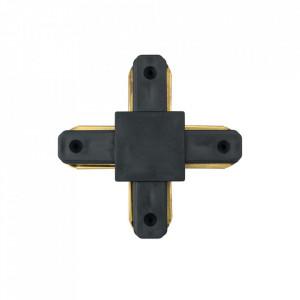 Conector electric negru din aluminiu si plastic Track-System MW Glasberg