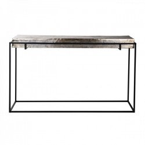 Consola gri/neagra din aluminiu si fier 140 cm Calloway Richmond Interiors