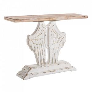 Consola maro/alba din lemn de brad si MDF 120 cm Tolhuin Ixia