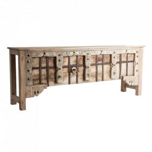 Consola maro/aurie din lemn 194 cm Chiayi Vical Home