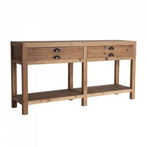 Consola maro din lemn 150 cm Bern Vical Home