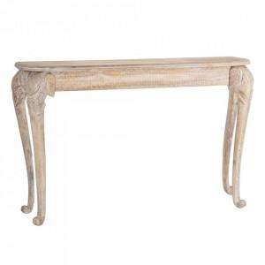 Consola maro din lemn de mango 124 cm Natural Way Denzzo