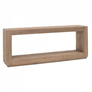 Consola maro din lemn de ulm 183 cm Denzzo