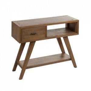 Consola maro din lemn mindi 80 cm Amara Santiago Pons