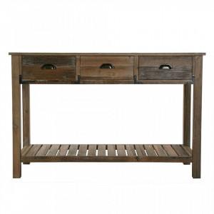 Consola maro din lemn si MDF 120 cm Roger Versa Home