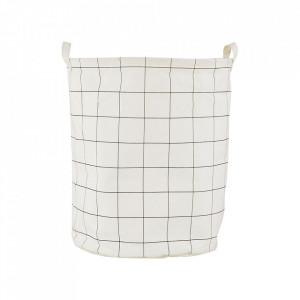 Cos alb din textil pentru rufe 40x50 cm Squares House Doctor