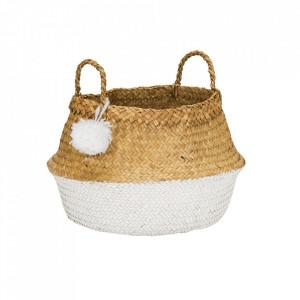 Cos alb/maro din fibre naturale Pompom Kids Depot