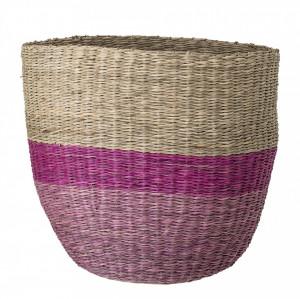 Cos crem/roz pentru depozitare din iarba de mare Amina  Bloomingville