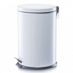 Cos de gunoi alb din metal 20 L Home Pedal Bin Medium Zeller