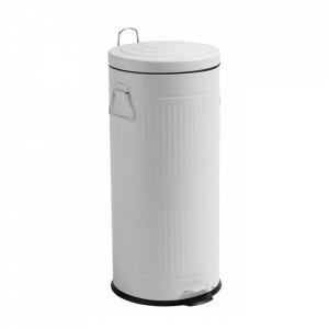 Cos de gunoi alb din metal 30 L Alan Ale Nordal