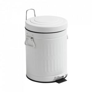 Cos de gunoi alb din metal 5 L Alan Ale Nordal