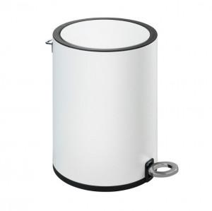 Cos de gunoi alb/negru din otel si plastic 3 L Monza Wenko