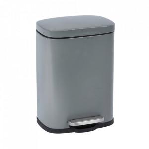 Cos de gunoi gri din otel 5 L Leno Wenko