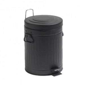 Cos de gunoi negru din metal 5 L Alan Nordal