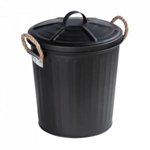 Cos de gunoi negru din otel 6 L Gara Wenko