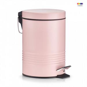 Cos de gunoi roz din metal 3 L Lisa Rose Zeller