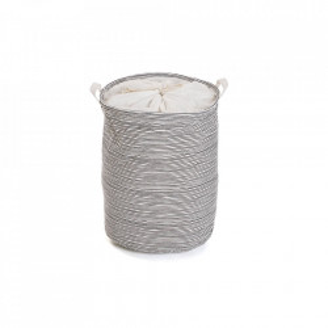 Cos de rufe alb/negru din poliester 38x48 cm Black Line Laundry Versa Home