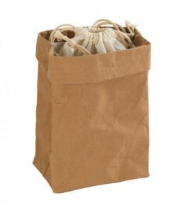 Cos maro/crem din hartie si bumbac Storage Bag Small Wenko