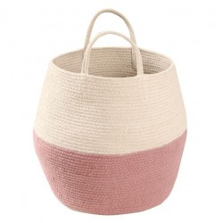 Cos roz/crem din bumbac 30x35 cm Zoco Ash Rose-Natural Lorena Canals