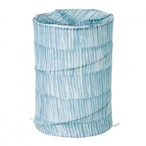 Cos rufe pliabil albastru/alb din poliester 69 L Drip Unimasa