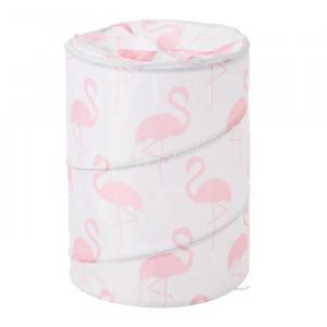 Cos rufe pliabil din poliester 69 L Flamingo White Pink Unimasa
