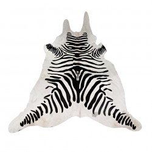 Covor alb/negru din piele 4 mp Zebra Pols Potten