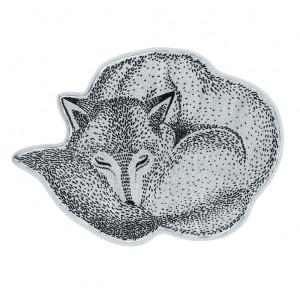 Covor albastru din bumbac Fox Bloomingville Mini
