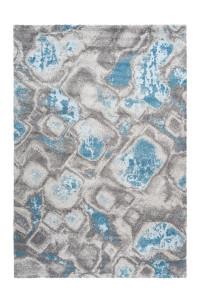 Covor albastru din polipropilena Sensation Cell Lalee (diverse dimensiuni)