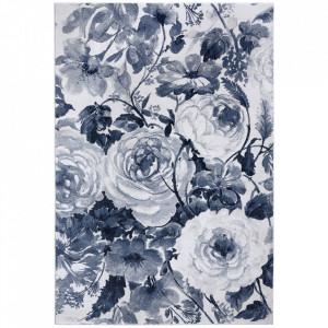 Covor crem/albastru din polipropilena Romance Peony Mint Rugs (diverse dimensiuni)