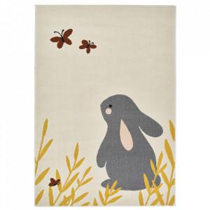Covor crem din polipropilena 120x170 cm Vini Bunny Lottie Zala Living