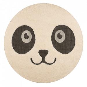 Covor crem/negru din polipropilena 120 cm Vini Panda Pete Zala Living