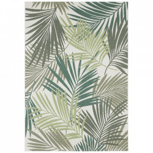 Covor crem/verde din polipropilena pentru exterior Beach Cream Green Bougari (diverse dimensiuni)