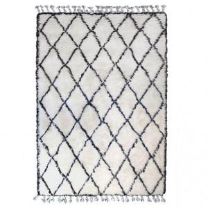 Covor din lana alb/negru 280x180 Diamond HK Living