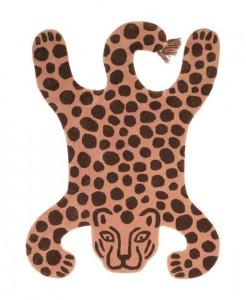 Covor din lana si bumbac 118x160 cm Safari Leopard Ferm Living