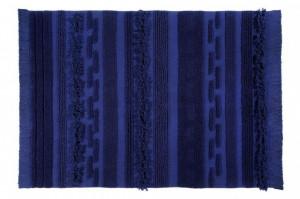 Covor dreptunghiular albastru din bumbac 140x200 cm Air Alaska Blue Lorena Canals