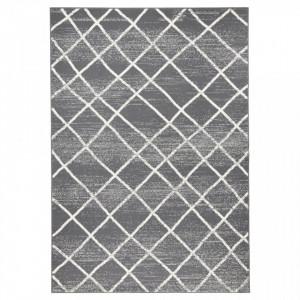 Covor dreptunghiular gri inchis Rhombe Zala Living (diverse dimensiuni)