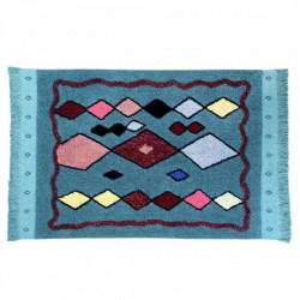 Covor dreptunghiular multicolor din bumbac 120x185 cm Draa Lorena Canals