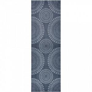 Covor gri bucatarie 150x50 cm Flower Dots Zala Living