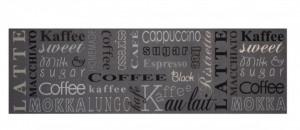 Covor gri bucatarie din poliamide 45x140 cm Coffee Choice Zala Living