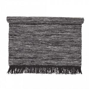 Covor gri din lana 200x140 cm Bloomingville