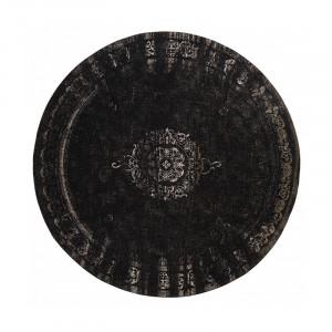 Covor gri inchis/negru din bumbac si poliester 240 cm Grand Nordal