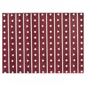 Covor maro castana din fibre acrilice 140x200 cm Pattern Lorena Canals