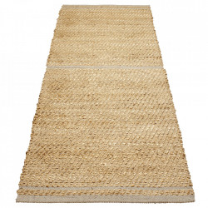 Covor maro/gri din iuta si lana 70x140 cm Conwy Bolia