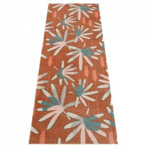 Covor maro/verde din poliamide 67x180 cm Viva Mellow Brown Green Elle Decor