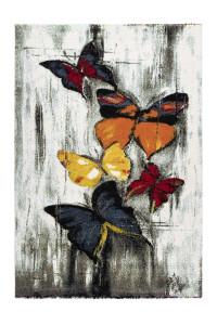 Covor multicolor din polipropilena Espo Rainbow Butterfly Lalee (diverse dimensiuni)