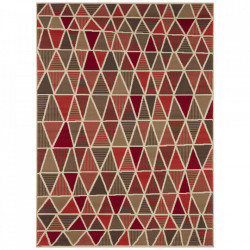 Covor multicolor din polipropilena Geometric Red Pattern The Home (diverse dimensiuni)