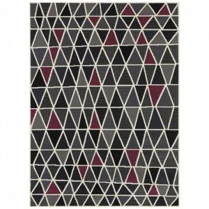 Covor multicolor din polipropilena Geometric Violet Pattern The Home (diverse dimensiuni)