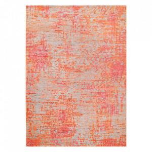 Covor multicolor din viscoza si lana Reflect Coral Ligne Pure (diverse dimensiuni)